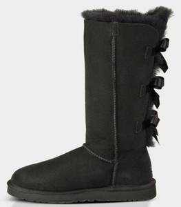 женщины зима снег сапоги Австралии классический короткий лук сапоги дизайнеруггилодыжка колено лук девушка мини Bailey ботинок Bottes де Neige р F7ql #