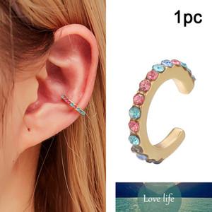 Rock Punk C Letter Ear Cuff for Women Vintage Geometric Cuff Clip Earrings NO Piercing Statement Crystal Earings Boho Jewelry