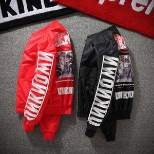 2021 nova primavera queda moda dos homens do hip hop casual carta jovem casal streetwear jaqueta 6v3q