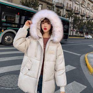 Мода зимняя куртка женская короткая куртка женщины 2021 новый корейский стиль дамы с капюшоном свободно хлопок Tyjtjy
