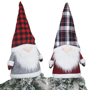 Grand Gnome arbre de Noël Topper Décorations de Noël 25 pouces Grand Père Noël en peluche Gnomes scandinave Décorations AHE1254