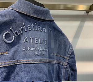 Christian Street Jeans chaquetas para hombre del diseñador de las mujeres Streetwear dril de algodón de abrigo TopsWith c botón azul oscuro Abajo Chaqueta Hombre cd