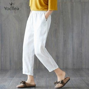 New Large size Women Pants spring and summer Ankle-lenght Pants Loose casual Harem Pants like Cotton and Linen trousers