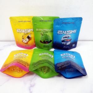 Venda quente 3,5 g Sacos de Mylar Z_U_S_H_I Erva Flor Zipper saco seco Tobacco Retail Bag Childproof 3.5g pacote de sacos de Mylar Packaging