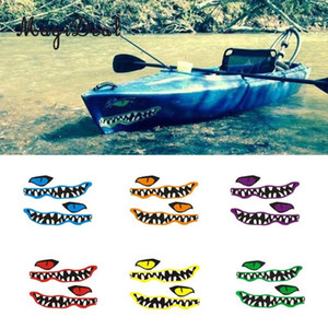 MagiDeal New 1 Pair River Mouth&Eye Vinyl Decal Stickers for Kayak Canoe Fishing Boat Car Truck Yaht Dinghy Window Decor1