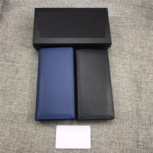Man Portefeuille Long design portefeuille croix peau de vache porte-cartes porte-monnaie PR hommes Mode bourse en cuir véritable couple portefeuilles 19 * 9 * 2cm avec la boîte