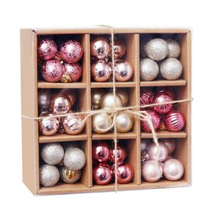 Clearance 99pcs Mini 3cm Christmas Balls Shatterproof Hanging Xmas Tree Ornaments Wedding Party Home Decoration Christmas Supplies