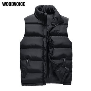 Woodvoice Brand Clothing New Men's Warm Waistcoat Male Sleeveless Waterproof Coat Overcoat Fashion Outerwear Vests Big Size 201021