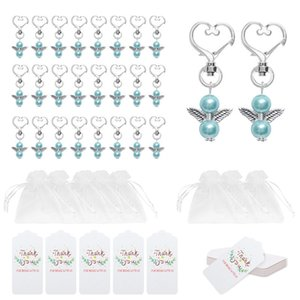 Angel Favor Keychains Thank You Tags Gift Bags Guest Return Favors Baby Shower Bridal Shower Wedding Gifts JK2101KD