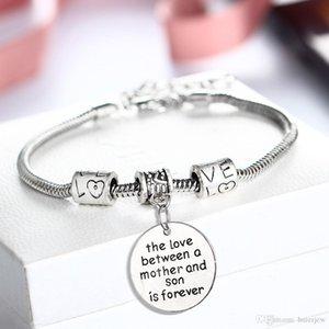 Il braccialetto all'ingrosso del cuore di AMORE perfetto per Natale Compleanni SORELLA MOM Charm Bracelet Chiaro