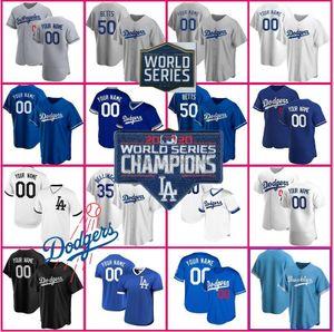 Dodgers Baseball Jerseys Mookie Betts 8 24 Bryant KB Black Mamba Los Angeles Cody Bellinger Custom Justin Turner Clayton Kershaw Hernandezs