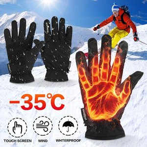 قفازات التزلج للماء الصوف الحراري التزلج على الجليد الرجال النساء الشتاء ل sonwboarding