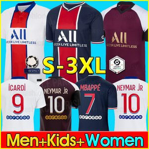 Maillot PSG 2021 psg Maillot de foot MBAPPE ICARDI GANA VERRATTI 20 21 Maillot Foot maillots de football survêtement survetement psg soccer jersey Football Shirt men kids kit