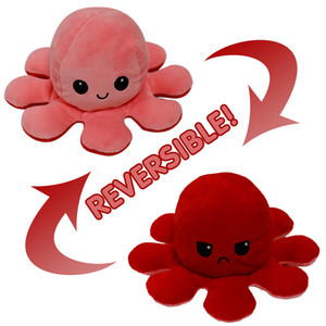Octopus Toys Reversible Flip Octopus Stuffed Plush Doll Soft Simulation Reversible Plush Toys Color Chapter Plush Doll Child Toys gifts