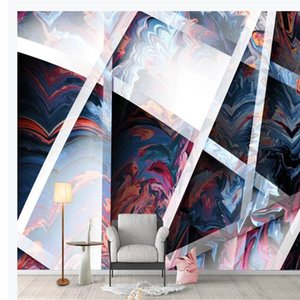 customized wallpaper for walls Large-scale simple personality 3D geometric wallpapers three-dimensional large-scale background wall
