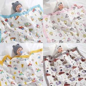 HappyFlute 6-katmanlı dantel tasarım bebek kundak kare şekli W1218