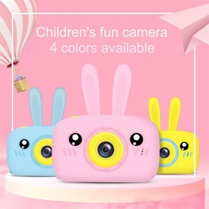Children Camera HD Digital 2 Inch Cute Cartoon Rabbit Child Birthday Christmas Gift Toys Pink Yellow White Blue 201214