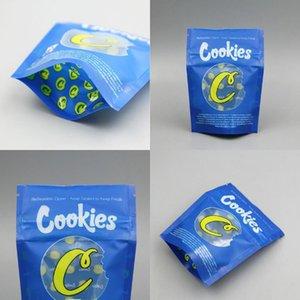 Küçük Çerezler Mavi Sarı 3.5 Gram Çerezler California SF 1GRAM Küçük Mavi 3.5G Kek Mix 1g 3.5g Mylarbag Dayanıklı Ambalaj Çantası Bbymjg
