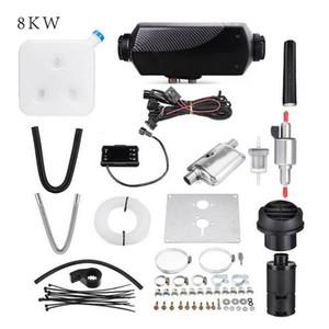 8KW 블랙 단일 구멍 히터 에어 주차 히터 로터리 스위치 LCD 스위치와 디지털로 머플러