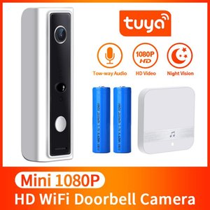 كاميرا INQMEGA تويا الحياة الذكية واي فاي لاسلكي فيديو إنترفون الجرس 720P مكالمة هاتفية جرس الباب الأمن الرئيسية للرؤية الليلية