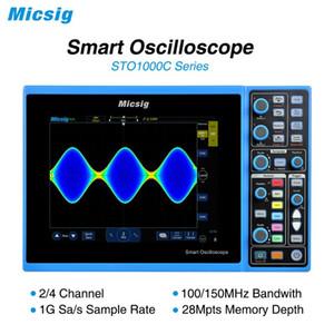 Micsig Цифровой осциллограф Смарт 100MHz 2CH 4CH портативный осциллограф ScopeMeter автомобильный osciloscopio STO1000C