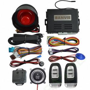 Sistema universal BANVIE PKE de seguridad del coche de alarma con el botón de arranque del motor a distancia / Start Stop de empuje / Keyless pasivo ir starline 5Ha5 #