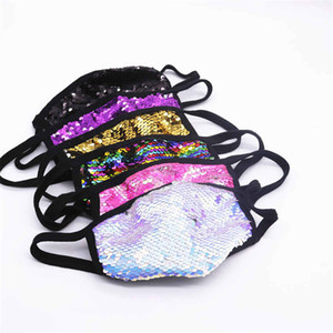 Unisex Explosive Fashion Jewelry Colorful Sequins Bling Mask Decoration Accessories Nightclub Face Jewelry Gift DHL free shipping