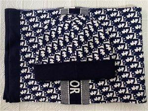 2020 высокого качества мужчины и женщины Конструкторы Hat шарф наборы Теплое европейского класса High-End шапки шарфы наборы Марка Hat шарф модные аксессуары 555
