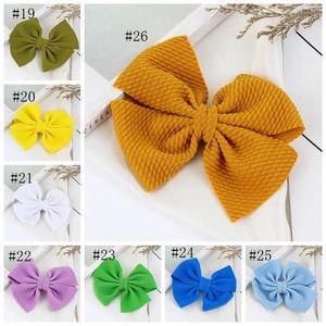 Baby Girls Hairclips Solid Bowknot Hair Clip Ribbon Bow Hairpins Cute Barrette Newborn Photo Shoot Hair Accessories 30 Colors