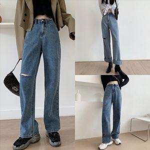 SXX Freund Damen Vintage Jeans für Frauen Mama High Denim Jeans Blau Casual Casl Lady Jeans Bleistift Hose Taille Streetwear