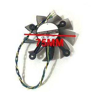 75mm FD8015U12S DC12V 0.5amp 4pin ASUS GTX 560 GTX550TI için Soğutucu Fan HD7850 Grafik Video Kartı Soğutma Fanlar K11