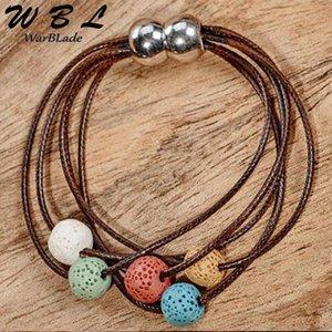 WBL Природный камень Лава бисер браслет Красочный Lava Диффузор камень браслет марочные Подвески Браслеты для женщин подарка ювелирных изделий