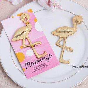 Metal Flamingo Bottle Openers Golden Beer Bottle Opener Creative Kitchen Bar tools Beer Wine Opener Wedding Favor