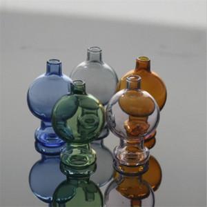 Bubble verre coloré Carb Cap avec verre épais Pyrex Tops casquettes pour Domeless Quartz fumeur Pipes eau libre DHL