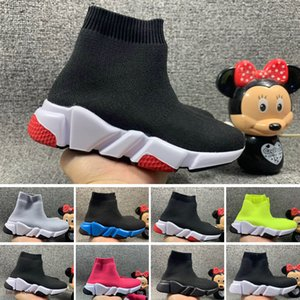 2021 New stylist Speed socks Casual Shoes black white fashion Trainers Runner Triple Black Boots Red Flat heavy sole