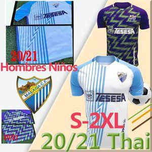 20 21 Malaga Soccer Jerseys Málaga 2020 2021 K. Bare Juanpi Adrian CF Camicia da calcio Juankar Camiseta de fútbol Juande Mens Hombres Uniformi
