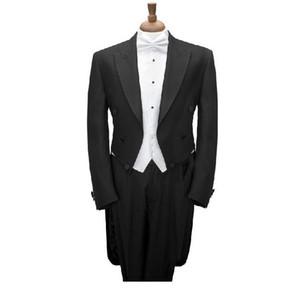 Morning Style Groom Tuxedos Charcoal Groomsmen Men Wedding Suits Best Men Blazer(Jacket+Pants+Tie+Waistcoat)