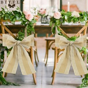 Knot Chair Event Vintage Classical Decor Decoration Wedding Burlap Bow Banquet For Sashes Chairs Cover Lace Party wmturO xhhair
