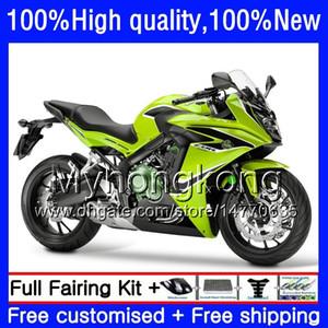 Corpo para a Honda CBR 650 F CBR650 F CBR650 CBR650F 53HM.50 CBR650F 11 12 13 14 15 16 Yellow verde CBR 650F 2011 2012 2013 2014 2015 Fairing