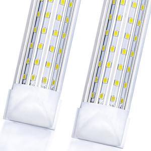 20 STÜCKE, LED-Shop-Licht, 4FT 8FT 144W 14500LM 6000K, kaltweiß, u Form, klare Abdeckung, High-Ausgang, verknüpftbare Shop-Lichter, T8 LED-Röhre-Leuchten,