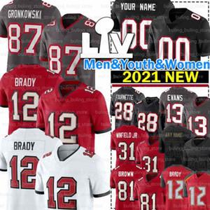 12 Tom Brady Jerseys 87 Rob Gronkowski Devin Beyaz Mike Evans Vita Vea Chris Godwin Antonio Brown Wirfs Antoine Winfield Jr Lavonte David