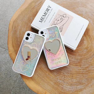 Cute Woman Lady LOVE Mirror Phone Case For iphone12 iphone 12 mini pro max iphone 11 XR XS Max 6 7 8 Plus back mirror phone cases