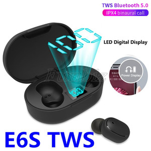 E6S TWS Wireless Earphone Music Stereo Earbuds LED Display Bluetooth device V5.0 Headsets with Mic for all bluetooth device