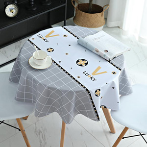 Nordic Waterproof Pvc Disposable Table Oil-proof Cloth Tablecloth Household Anti-scalding And Round Square Rectangle Table Cloth Oagxj