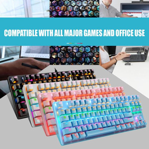 Wired 87-Key Universal RGB Key Cap Cover for Blue Switch Mechanical Keyboard