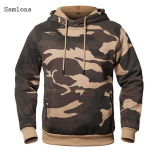 Outono e inverno moda esportes dinâmicos jovens camisa de camuflagem homem cap saco de manga longa homens casaco