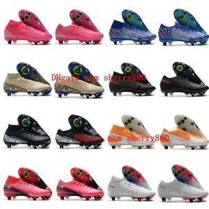 020 mens soccer shoes Mercurial Superfly 7 Elite SG-PRO AC soccer cleats outdoor football boots CR7 neymar ronaldo