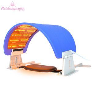 2 in 1 bester Verkauf PDT LED 7 Farbe LED-Licht Photon Therapie Gesicht Gesichtsbehälter Anziehen Falten Entferner Schönheitsmaschine Freies Verschiffen