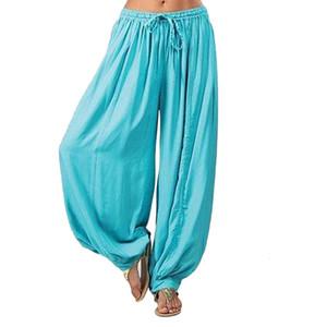 Women Leggings Elastic Hippy Jumpsuit Cotton Harem Loose Casual Ladies Trousers Dance Pants Plus Size