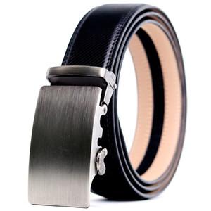 CETIRI أحزمة جلد طبيعي للرجال التلقائي مشبك معدني لحزام للرجل السقاطة حزام الشحن مجانا
